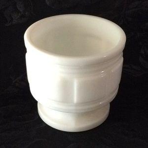 """Milk Glass Planter- 4.5"""" Tall x 4 3/4"""" Wide"""